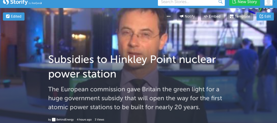 Storify about EU green light to subsidies for Hinkley Point nuclear plant