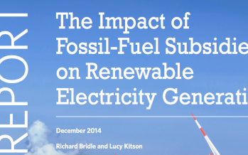 The Impact of Fossil-Fuel Subsidies on Renewable Electricity Generation