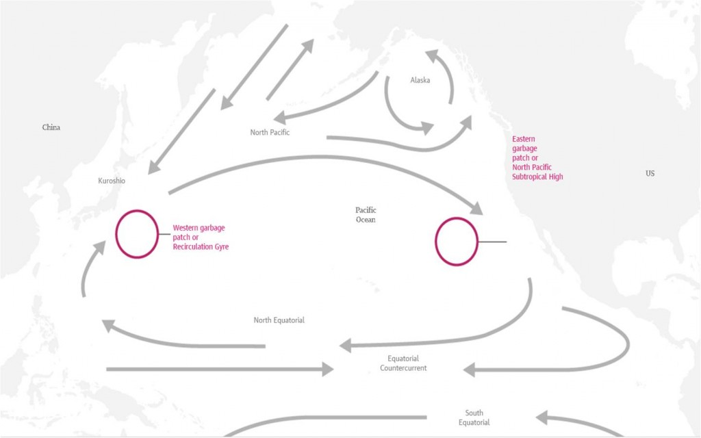 Pacific clean-up map