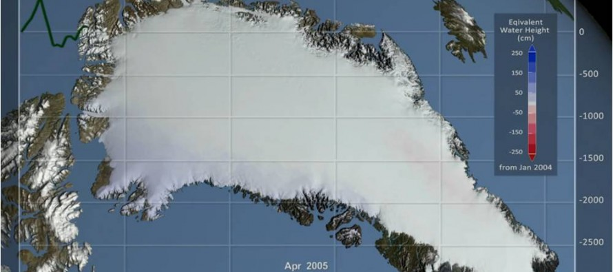 Animation shows Greenland's ice mass loss