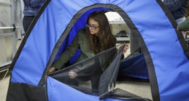 High school girls with no engineering experience won a $10,000 grant for inventing a solar-powered tent to combat homelessness